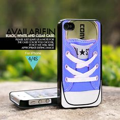 Converse All Star Blue Tiffany Shoes - For iPhone 4/4s Case, Hard Cover