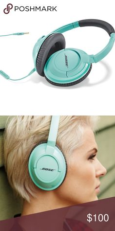 Bose SoundTrue Headphones Bose SoundTrue Headphones - Around Ear. Mint green. Used a few times, practically brand new. Comes with headphone cord jack and travel case. Bose Accessories