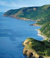 Cabot Trail in Cape Breton Island, Nova Scotia. Listed as one of the Top 10 most beautiful drives in the world by National Geographic Travel. Cabot Trail, The Places Youll Go, Places To See, Discover Canada, East Coast Road Trip, Enchanted Island, Island Pictures, Cape Breton, All I Ever Wanted