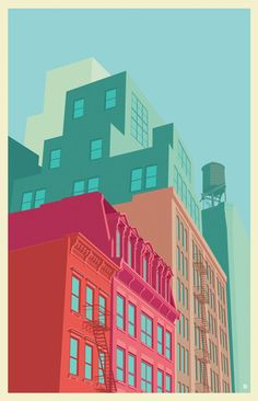 Illustrations : New York vu par Remko Heemskerk
