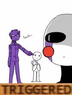 Purple guy probably thought Marionette wasn't looking. Five Nights At Freddy's, Rebornica Fnaf, Markiplier Fnaf, Vincent Fnaf, Fnaf Night Guards, Fnaf Wallpapers, Fnaf Characters, Fnaf Sister Location, Pedobear