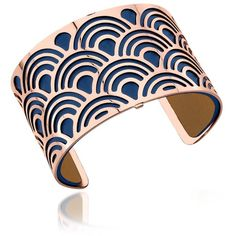 Les Georgettes Designer Bracelets Poisson Rose Gold Plated Bracelet... ($155) ❤ liked on Polyvore featuring jewelry, bracelets, accessories, joias, handcrafted jewellery, cut out jewelry, navy blue jewelry, rose gold plated jewelry and navy jewelry