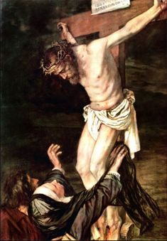 This picture the viewer would use context to figure out that this is Jesus on the cross and that is Mary reaching up to him. If you didn't use the context then you wouldn't know the meaning of the picture and its significance. Pictures Of Jesus Christ, Jesus Christ Images, Christian Images, Christian Art, Catholic Art, Religious Art, Stock Art, La Salette, Jesus Our Savior