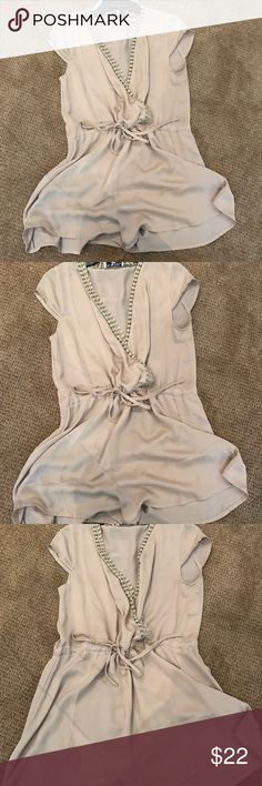 Tan silk romper Size small. Sabo skirt Sabo Skirt Pants Jumpsuits & Rompers