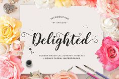 Delighted Script by Unicode on @creativemarket