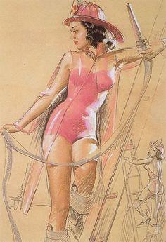 K. O. Munson Vintage Pin Up Girl Illustration   Pin-Up Girls   Sugary.Sweet   #PinUp #Art #Vintage #Illustration