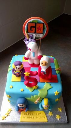 CBeebies Go Jetters Birthday cake. Created by Queen Of Cakes. Ellon, Aberdeenshire.