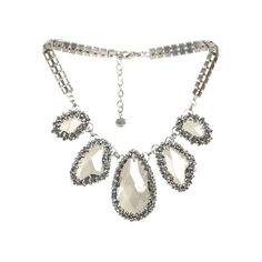 Short Ice Crystal Necklace   ArdenB ($19) found on Polyvore