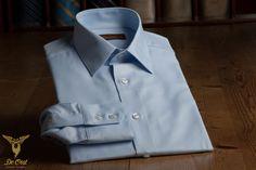 Light Blue Broadcloth (Poplin) Shirt — De Oost Bespoke Tailoring