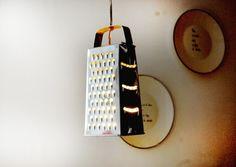 lámpara rallador para cocina