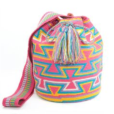 Wayuu Bag / Wayuu Mochila  Authentic Handmade door ColombianMadeShop, $118.00