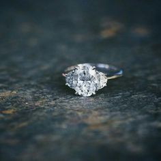 Diamond Engagement Rings Oval half moon three stone diamond engagement ring by helen Wedding Engagement, Wedding Bands, Solitaire Engagement, Engagement Bands, Oval Wedding Rings, Engagement Ring Vintage, Simple Engagement Rings Oval, Trilogy Engagement Ring, Three Stone Engagement Rings