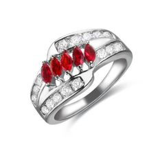 Marquise Gemstones 3 Row Cubic Zirconia CZ Eternity Ring China Manufacturer Factory Price Wholesale