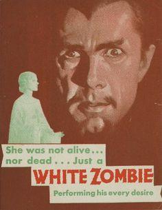 White Zombie Bela Lugosi #2 Horror movie poster