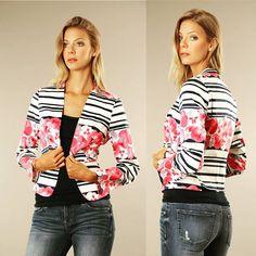 Beautiful floral print blazer   Shop Now!  http://ift.tt/1MDtyLA   #MatildaByTrueLove #Fashion #Style http://ift.tt/2af4UEk http://ift.tt/1MDtyLA