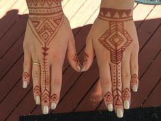 Tribal henna. different, cool.
