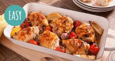 Buttery Baked Chicken with juicy cherry tomatoes and our delicious Black Beans...is your stomach rumbling yet?  #dinner #delicious #recipe