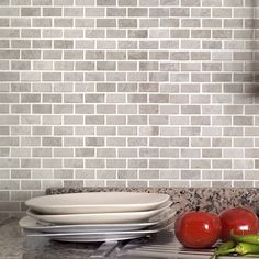 Shop Bestview Wooden White Honed Brick Mosaic Natural Stone Marble Floor And Wall Tile Common 12 In X Actual At Lowes Canada
