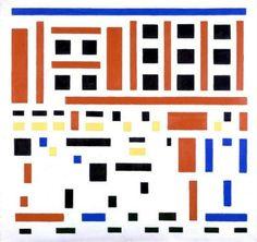 Bram van der Leck - Composition 1917 no. 4 (leaving the factory) – Kröller-Müller Museum