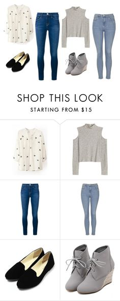 """""""Lauren & Lorie"""" by sabbtenn on Polyvore featuring Frame Denim, Topshop, WithChic, women's clothing, women, female, woman, misses and juniors"""