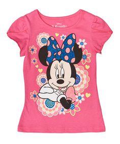 Look at this #zulilyfind! Lollipop Floral Minnie Mouse Graphic Tee - Toddler #zulilyfinds