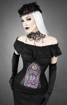 35 % OFF : Stained Glass Underbust Corset