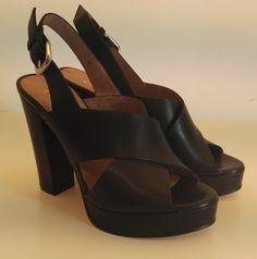 Sandalo Carmens in pelle nera