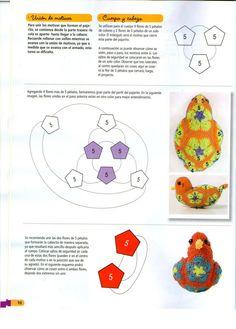 African Flower Bluebird Pattern - not in English 2/3