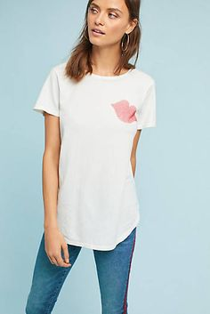 c12c880a6 Sol Angeles Smooch Tee Clothes For Sale, Cute Tops, Anthropologie, Graphic  Tees,