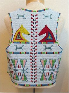 Free Native American Beadwork Patterns | Fully Beaded Vest Back
