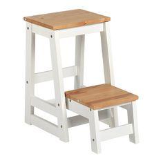 Taburete escalera de madera de abedul estructura en color - Taburete escalera madera ...