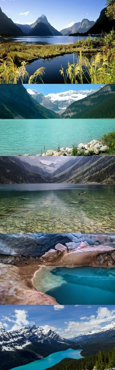 Nature, the lake, wedgemount, glacier water, canada