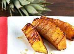 Brown sugar and Cinnamon coated grilled Pineapple Recipe