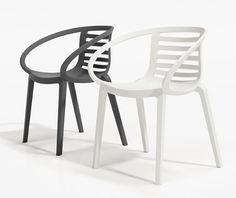 garden plastic chair, white chair, black chair, modern chair