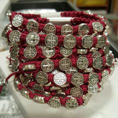 Red St. Benedict Woven Bracelet - a great gift for the whole Confirmation class.