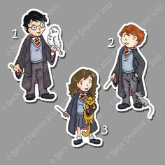 Harry Potter Stickers by Beckadoodles on Etsy https://www.etsy.com/listing/155890630/harry-potter-stickers