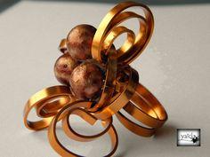 anillo en hilo de aluminio plano