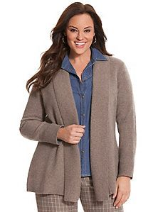 Like the blue and gray blouse and sweater together