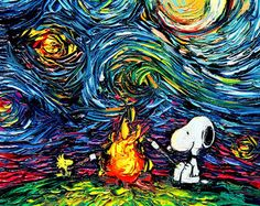 Starry Night and Snoopy