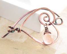 Swirly heart shape shawl pin or scarf pin with soft by IngoDesign, $26.00