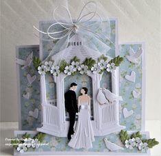 Make Your Own Card, Marianne Design, Hello Everyone, Wedding Cards, Anniversary, Wedding Dresses, Frame, Handmade, Ali