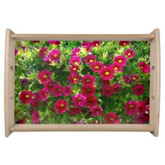 Sunny Pink Pansies Serving Tray