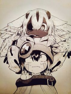 Made in abyss Fantasy Character Design, Character Art, Anime Manga, Anime Art, Abyss Anime, Anime Lineart, Mythical Creatures Art, Anime Furry, Cyberpunk Art