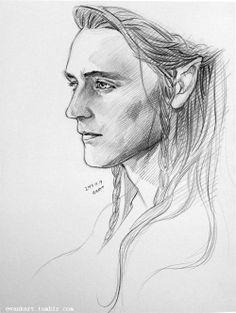Tom as an elf in lotr