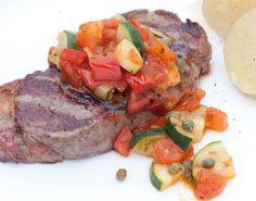 FODMAP Friendly Salsa on Steak