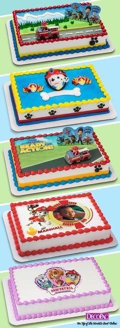 Choose from a variety of Paw Patrol cake designs. From DecoSets to PhotoCake, we have everything you need to fill an order.