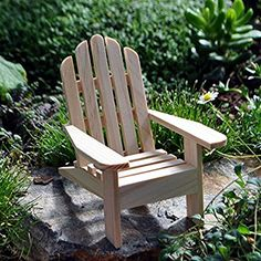 Amazon.com: 1 X Miniature Fairy Garden Adirondack Chair, Natural: Home U0026