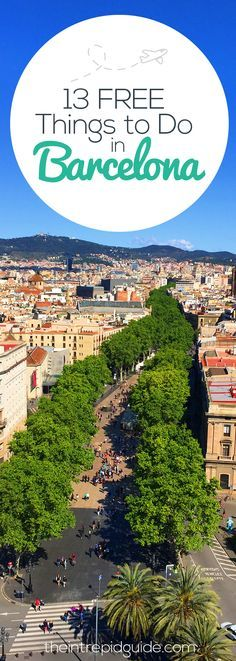 Travel Hacking: 13 FREE Things to Do in Barcelona kruiser.ro/… Travel Hacking: 13 KOSTENLOSE Aktivitäten in Barcelona kruiser. Travel Advice, Travel Guides, Travel Tips, Travel Hacks, Dc Travel, Travel Logo, Vacation Travel, Beach Travel, Summer Travel