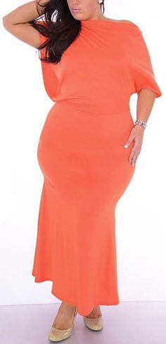 Right (Plus/Orange)-Great Glam is the web's top plus size online store clothing website for 1X 2X and 3X clothes and apparel for ladies, women and juniors