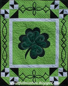 Quilt Fabrication: St Patrick's Day Wallhanging